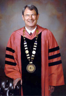President Ettling in his academic regalia