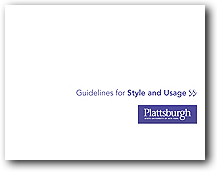Click on this image to download PDF copy of the SUNY Plattsburgh Style and Usage Guide