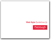 Click on this image to download PDF copy of the SUNY Plattsburgh Web Style Guidelines