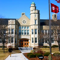 Photo of Hawkins Hall (front view of the building). Click to access specific directions and estimated travel times