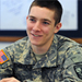 Photo of R.O.T.C. student in military studies class