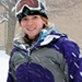 Photo of SUNY Plattsburgh student enjoying the snow on campus.