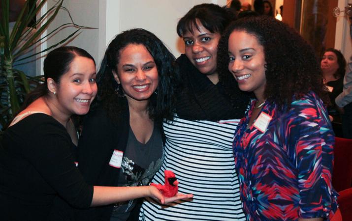 Photo left to right: Melissa Garcia '07, Ivonne Gomez '07, Tanya Henry '05 and Gloribel Vega '07