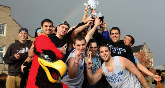 homecoming 2012 rope champs 03 SUNY College at Plattsburgh Cardinals | Top Party Schools Review