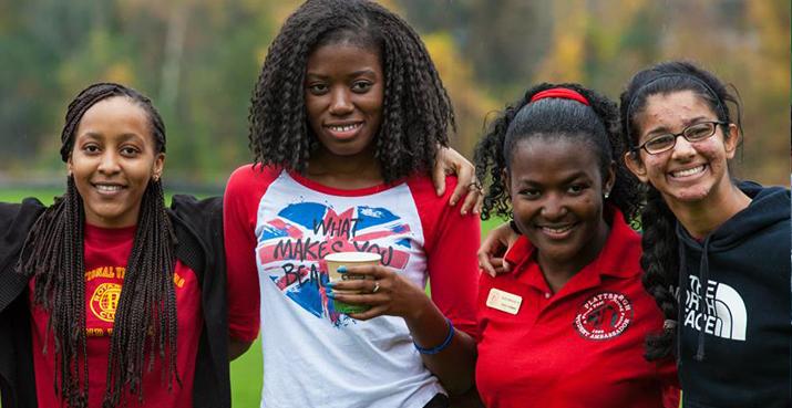 Photo of students at homecoming