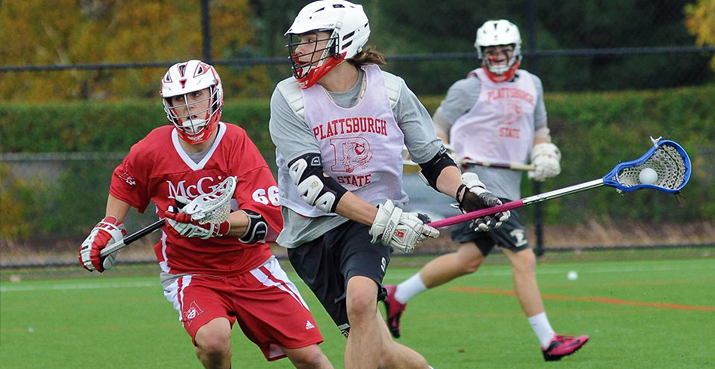 Photo of Lacrosse team in action