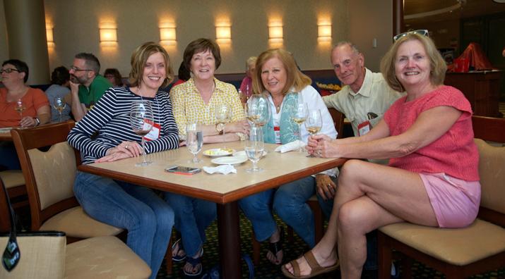 Photo of friends having dinner