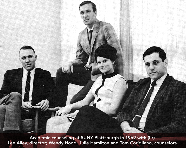 Photo of Tom Corigiliano and couseling staff in 1969