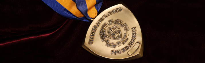 Phot oof SUNY Chancellor Award medal