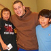 Photo of SUNY Plattsburgh student and some children