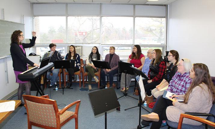 Aphasia Choir practice