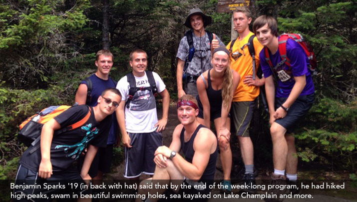 Photo of Benjamin Sparks '19 and friends