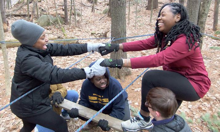 Photo of International students enjoying alternative spring break at SUNY Plattsburgh