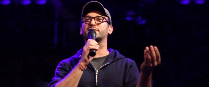 Photo of Josh Fox on stage.