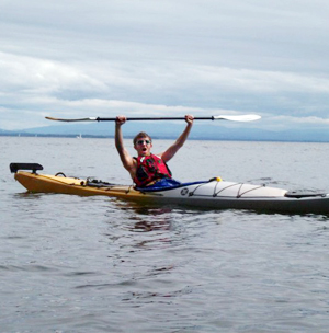 Photo of SUNY Plattsburgh student in kayak