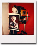Self-portrait of Andy Warhol taken with a polaroid camera