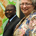 Photo of Dr. Jean Ouédraogo and Marguerite Adelman