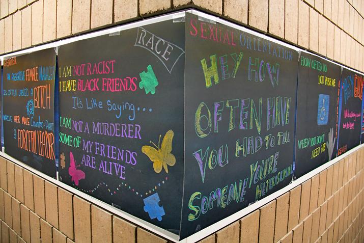 Photo of chalk art recognizing diversity