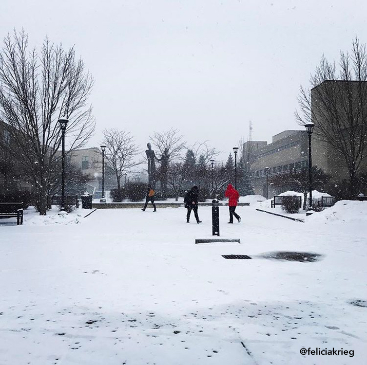 Photo of Amitie plaza during winter by feliciakrieg