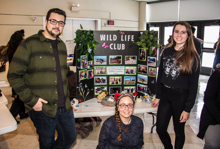 Photo shows members of the Wildlife Club