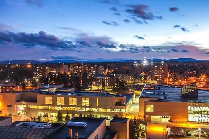 Photo of campus skyline at dusk by konradodh