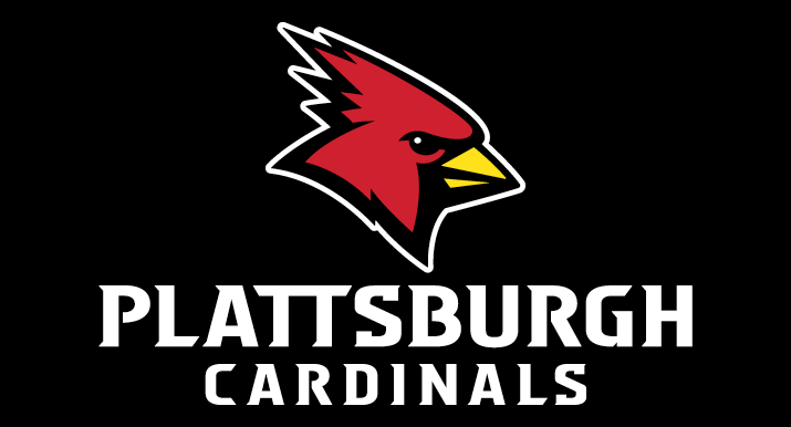 New SUNY Plattsburgh Cardinals sports logo Burghy