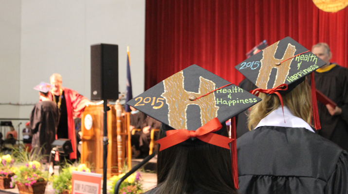 Photo of SUNY Plattsburgh students at Spring 2015 Commencement
