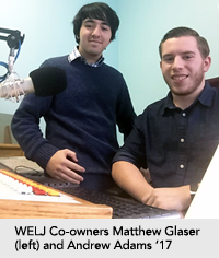 Photo of co-owners Matthew Glaser and Andrew Adams