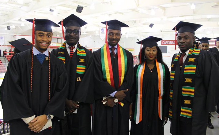 Photo of SUNY Plattsburgh graduates at Winter 2015 Commencement