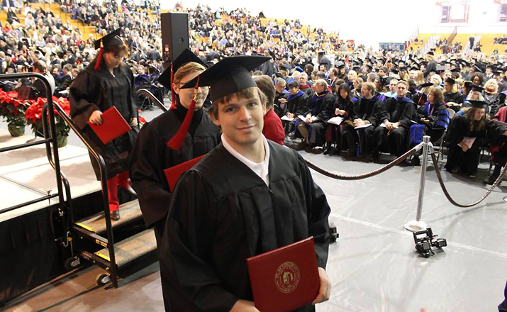 Photo of SUNY Plattsburgh graduate at Winter 2015 Commencement