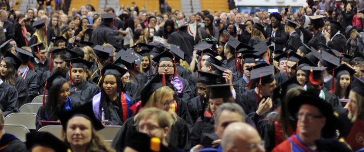 Photo of SUNY Plattsburgh graduate at Winter 2016 Commencement