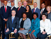 Photo of Nancy Elwess and other honorees with President Obama