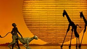 Scene from �The Lion King� play