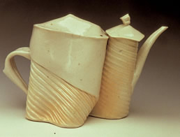 See a larger view of Small White  Teapot