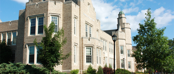 Photo of the portion of Hawkins Hall that houses the Honors Center