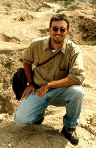 Photo of Haagen Klaus at a desert excavation site