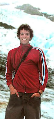 Grant Jackson standing on a glacier in Alaska