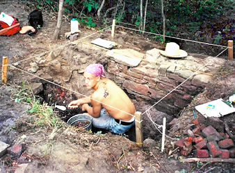Bill is about half-way through his excavation in this photo