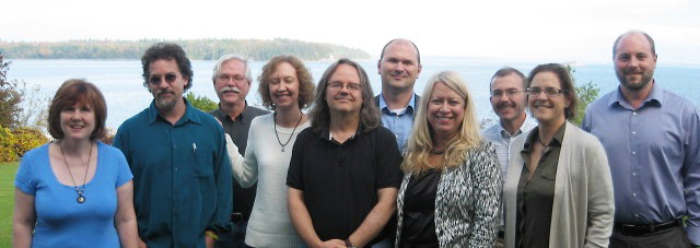 Photo of the history faculty at Lake Champlain