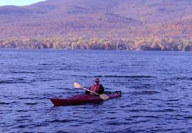 Photo of James Lindgren kayaking