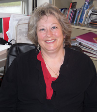 Photo of Robert Wacker-Mundy in her office