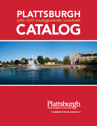 Image of the catalog cover showing the newly renovated pond at Hawkins Hall