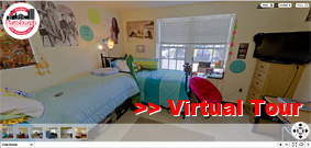Photo of SUNY Plattsburgh Virtual Room Tour