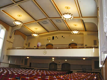 E. Glenn Giltz Auditorium's seating arrangement