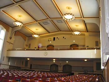 E. Glenn Giltz Auditorium's seating arrangement