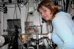 Photo of Ilona working at Brookhaven Lab