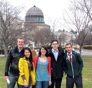 2015 HRUMC attendees, left to right are Bendik Hansen, Trang Nguyen, Hannah Gzemski, Bradley Johnson, and Kevin Boyette