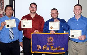 Photo of new Pi Mu Epsilon members