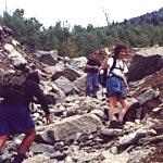 Image of SUNY Plattsburgh geology students on Adirondack Mt. landslide