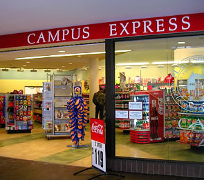 Photo of front entrance to Campus Express